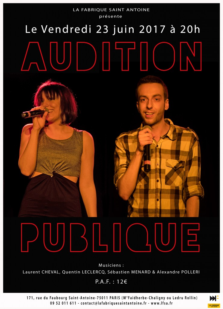 Affiche Audition publique FD